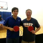 Rodrigo Tapia and Tim Stephens after playing the Equal Challenge