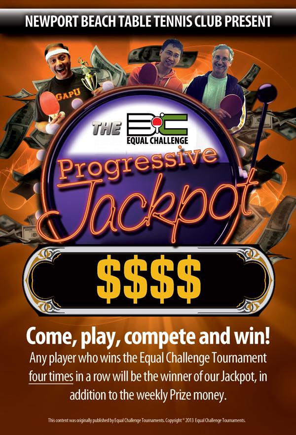 Equal Challenge Progressive Jackpot