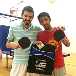 Ron Arellano and Nasser Alzakari after playing the Equal Challenge Tournament
