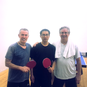 Art Sandoval, Kuei Chen and Tim Stephens after playing the Equal Challenge Tournament in Newport Beach