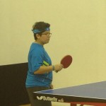 Playing on Newport Beach Table Tennis