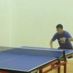 Table tennis backhand in Newport Beach