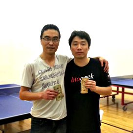 Tao Jiang and Jun Luan after playing the Equal Challenge Tournament in Newport Beach, CA