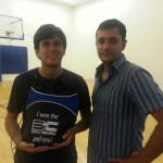 Rodrigo Tapia and Alex Figueroa after playing the Equal Challenge Tournament in Newport Beach