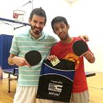 Ron Arellano and Nasser Alzakari after playing the Equal Challenge Tournament