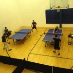 Newport Beach Table Tennis Players in action
